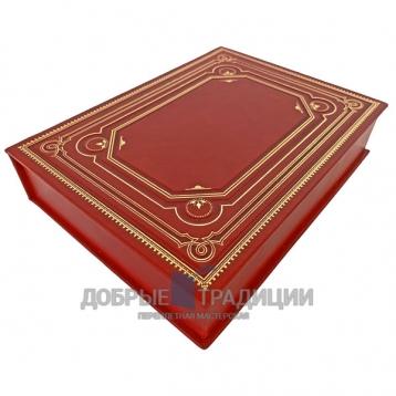 Купить книгу Подарочная коробка для книги из натуральной кожи красная (Артикул 1100) в Москве - интернет-магазин книг Добрые Традиции