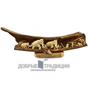 """Купить книгу """"Охота на мамонта"""" - Подарочная скульптура из бивня мамонта в Москве - интернет-магазин книг Добрые Традиции"""