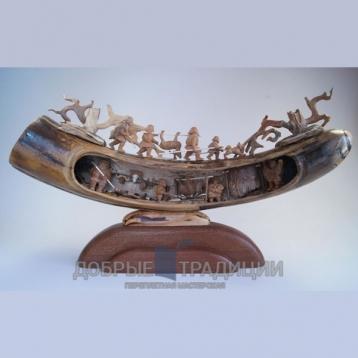 """Купить книгу """"Жизнь первобытных людей"""" - Подарочная скульптура из бивня мамонта в Москве - интернет-магазин книг Добрые Традиции"""